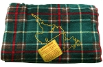 Fleece Blanket - Newfoundland Tartan w Map Embroidered