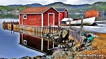 Canvas Photo  - 11 x 14 - Red Fishing Stage