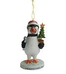 Ornament - Little Puffin Holding Little Xmas Tree