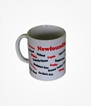 Mug - Newfoundland Towns - Red & Black Lettering