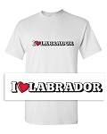 Mens -  I LUV Labrador - White