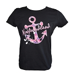 Ladies - Pink Camo Anchor - Newfoundland - Black