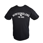 Mens Newfoundland The Rock w/ Newfoundland Map - Black