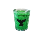 Shot Glass - Freezer Safe - Newfoundland  & Labrador - Whale Tail - Green