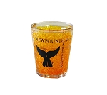 Shot Glass - Freezer Safe - Newfoundland  & Labrador - Whale Tail  - Yellow