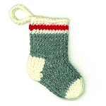 Hand-Knit Sock Ornament