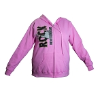 Hoodie - Full zip - Ladies - The Rock - Pink