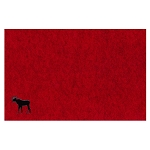 Moose Placemat - Stitched Red