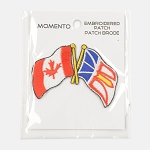 Embroidered Patch - Canadian & Newfoundland Friendship Flag