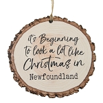 Bark Ornament - It's Beginning to look a lot like Christmas in Newfoundland