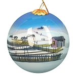 Hand Painted Bulb Ornament - Home Round the Bay