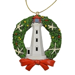 Wreath with Lighthouse Ornament