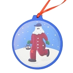 Mummer with Lantern Ornament - Round