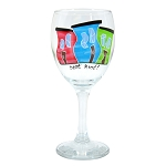Hand Painted Rowhouse Wine Glass - Best Kind