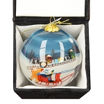 Hand Painted Bulb Ornament - Mummers Sleigh Ride