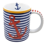 Striped Mug with Anchor