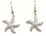 Earrings - Starfish - Silvertone
