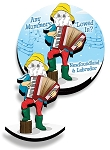 Magnet - Wooden - 2D - Downhome Mummer - 1 1/2