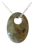 Labradorite Oval Necklace - 10