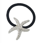 Hair Tie - Starfish - Silvertone