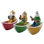Ornaments - Boating Mummers - 3 Pieces - 3D - Hanging Ornaments - 3