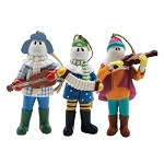 Ornament - 2018 Mummers Playing Musical Instruments - 3 Pieces - 3D - Hanging Ornaments - 3