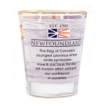 Shot Glass - Newfoundland Flag Story