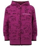 Kids Hoodie - All Over Moose and Bear Print
