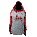 Ladies Hooded Shirt with Newfoundland Map