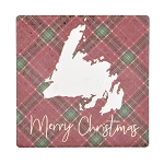 Merry Christmas Coaster - Ceramic with Corkback