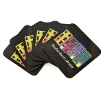 Coasters - Newfoundland Labrador Row Houses - Corked Back- 6 per pkg