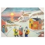 Glass Cutting Board - Mummers are Comming - 9.75