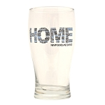Beer Glass - Home with Newfoundland Saying - Blue and Black
