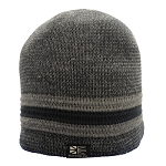 Toque - Adult - Newfoundland Tag - Navy / Grey -  Sherpa lining