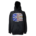 Hoodie - Adult - Flag Place Names - Black