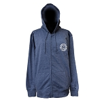 Unisex Hoody - Newfoundland and Labrador - Full Zipper with Pockets - Slate Blue