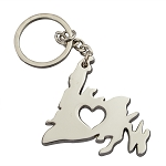 Keychain - Newfoundland with Heart