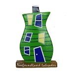 Wooden Rowhouse Magnet - Green - 2.5