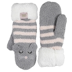 Coffee Shoppe - Mittens - Grey Cat