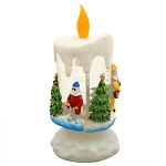 Light Up Mummer Candle - Newfoundland Mummers and Friends -  LED Color changing - A Newfoundland Christmas - 7.5