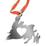 Ornament - Metal - Newfoundland Map with Heart 3