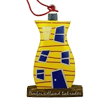 Wooden Rowhouse Ornament Yellow - 3