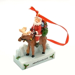 Ornament - Santa on Moose - Newfoundland  - 3