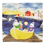 Pillow Cover - Mummers Ashore By Tish Walsh  - 15