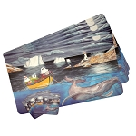 Vinyl Place Mats with Coasters - Mummer's Afloat - 8pc set