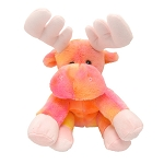 Plush - Super Soft - Moose -Pink, Orange and Yellow - Ages 3 and up - 10