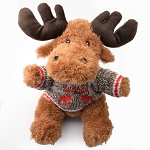 Plush - Moose with Knitted Sweater Canada -8
