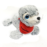 Plush - Big Eye - Seal with  Newfoundland Scarf - 9