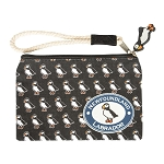 Puffin wristlet  - Newfoundland * Labrador - with Puffin Zipper Tag