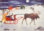Fleece Throw - Sherpa - Mummer Sleigh Ride - Tish Walsh - 50